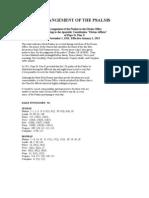 Arrangement of the Psalms