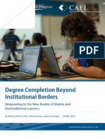 Degree Completion Beyond Institutional Borders