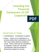 Understanding the Financial Component of a CSF Coop