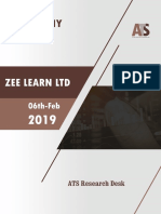Zee Learn Ltd Research Report