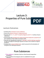 thermodynamics pure substances notes