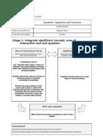 Example MYP Unit Planner Grade 9 Quadratics