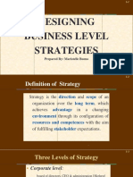 Designing Business Level Strategies