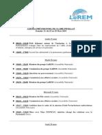 Agenda, Semaine 13