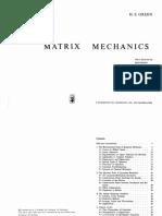 Matrix Mechanics