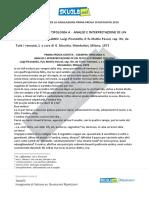 Soluzione Tipologia a, Il Fu Mattia Pascal, Luigi Pirandello