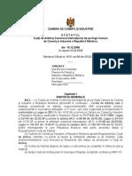 S T A T U T U L Curţii de Arbitraj Comercial Internaţional de pe lîngă Camera de Comerţ şi Industrie a Republicii Moldova.docx