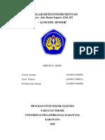 Makalah Akustik Sensor Sistem Instrumentasi