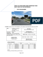 Ccp Billboard and Marquee Advertising Rates 2018