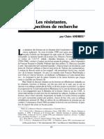 1997 Andrieu Les Resistantes Perspectives de Recherche