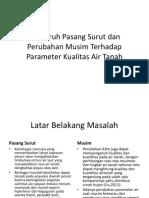 Pengaruh Pasang Surut Dan Perubahan Musim Terhadap Parameter