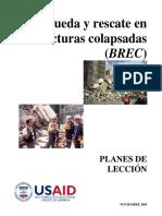 (BREC) Busqueda y rescate en estructura colasada - PLANES DE LECCION.pdf