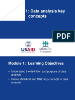 Me Module 1 Data Analysis Key Concepts May 2