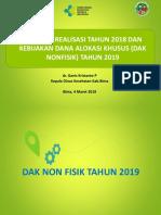 Evaluasi Dan Realisasi Dak Non Fisik Tahun 2018