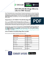 List of UNESCO World Heritage Sites in India for SSC Exam