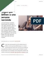 Estos Son Los Rasgos Que Definen a Una Persona Narcisista