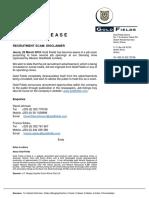 GoldFields Recruitment Scam Disclaimer
