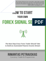 How to Start Your Own Forex Signal Service - Rimantas Petrauskas