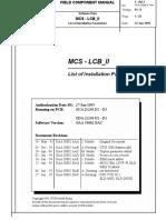 101351919 MCS LCB II List of Parameters