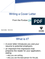 2 - Writing a Cover Letter