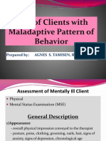 Care of Clients With Maladaptive Pattern of Behavior NCM 105 Lecture