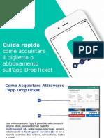 Istruzioni d'acquisto Titoli di Viaggio ARST sull'App DropTicket