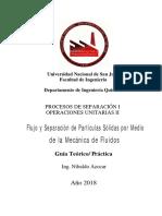 Flujo y Separación de Partículas Sólidas  por Medio de la Mecánica-2018.PDF