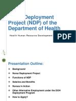 Nurse Deployment Program by DOH