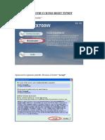 Instrucciones Reset Tx700w