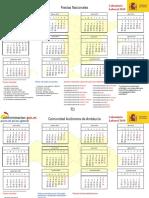 Calendario Laboral CompletoBotones 2019