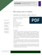 Risk Reward Analysis in Risk Arb