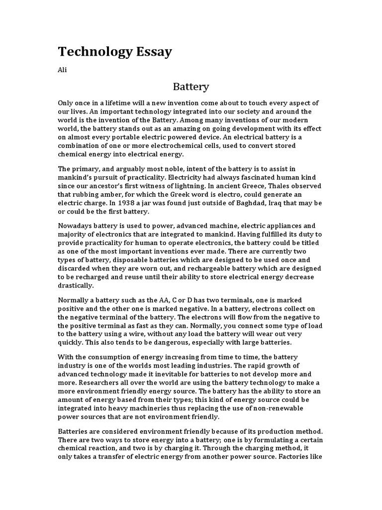 Battery essay