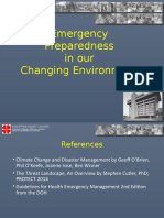 Emergency Preparedness in our Changing Environment