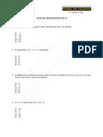 Tips N° 6, Matemática