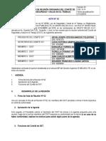 A-14 ACTA N° 2 REUNIÓN DEL COMITÉ DE SST 01 2018