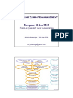 EU2015 from a systemic view to scenarios - Antonio  Alvarenga