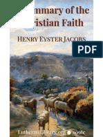 109tc Jacobs Summary Christian Faith