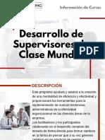 Curso Desarrollo de Supervisores de Clase Mundial