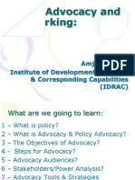 Policy Advocacy & Networking