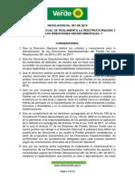 Resolución 001 de 2018, partido alianza verde