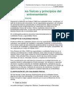 Cualidades Fc3adsicas y Principios Del Entrenamiento