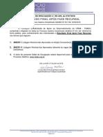 1250 Seletivo Edital 2018 025 SJR Resultado Final Pos Fase Recursal