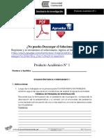 Producto académico N° 1 SEMINARIO DE INVESTIGACIÓN