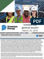Dominion's Investor Presentation (3/25/19)