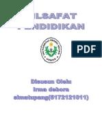 makalah filsafat pendidikan.docx