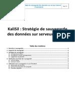 IT-A0-018-05-KaliSil Stratégie de Sauvegarde Des Données Sur Serveur Interne