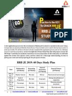RRB JE 2019 Study Plan