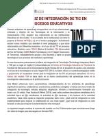 TIM, Matriz de Integración de TIC en Procesos Educativos