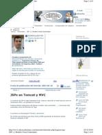 JSPs en Tomcat y MVC