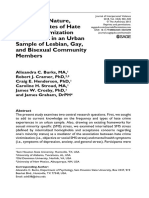 Frequency, Nature, And Correlates of Hate Crime Victimization Experiences in an Urban Sample of Lesbian, Gay, And Bisexual Community Members